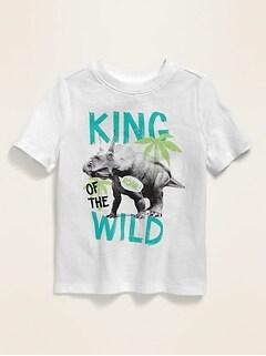 T-shirt ras du cou à imprimé pour tout-petit garçon