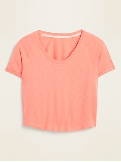Cropped French Terry Short-Sleeve Sweatshirt for Women