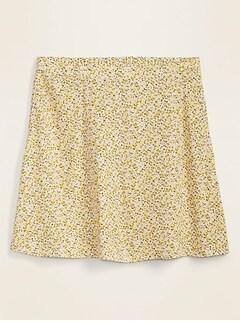 Printed Flutter Mini Skirt for Women
