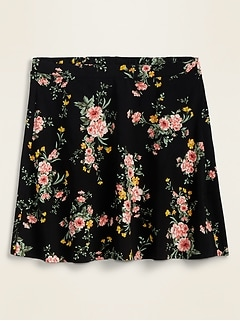 Printed Flutter Mini Skirt for Women