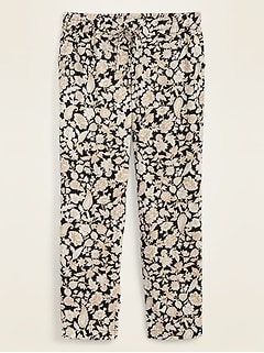 Mid-Rise Soft Pull-On Pants for Women