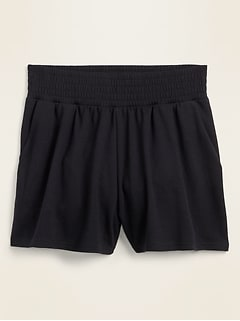 High-Waisted Lightweight French Terry Shorts for Women -- 3-inch inseam