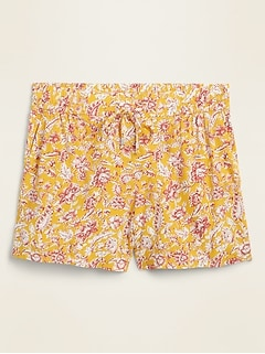Mid-Rise Soft-Woven Pull-On Shorts for Women -- 4-inch inseam
