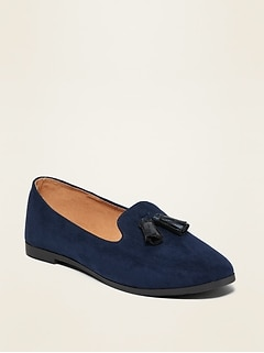 Faux-Suede Tassel Loafers for Girls