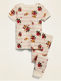 Unisex Floral-Print Pajama Set for Toddler & Baby