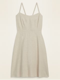 Fit & Flare Linen-Blend Cami Mini Dress for Women