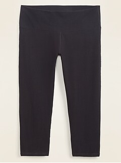 High-Waisted Balance Twist-Back Plus-Size Crop Leggings
