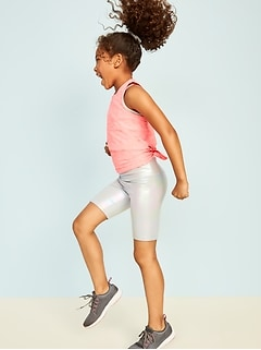 Fitted Go-Dry Iridescent Shorts for Girls