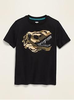 T-shirt à manches courtes à imprimé avec effets visuels pour garçon