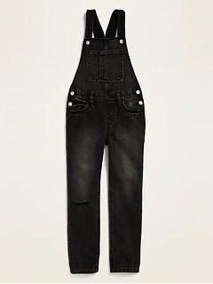 Black Jean Overalls for Girls