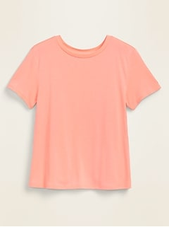 Loose Jersey-Knit Tulip-Back Performance Top for Women