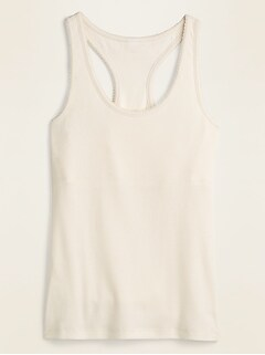Rib-Knit Shelf-Bra Pajama Tank Top for Women