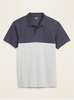 Go-Dry Cool Odor-Control Core Color-Blocked Polo for Men