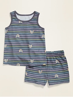 Pajama Tank Top & Shorts Set for Toddler & Baby