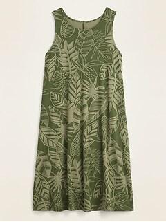 Sleeveless Printed Jersey Swing Dress for Women