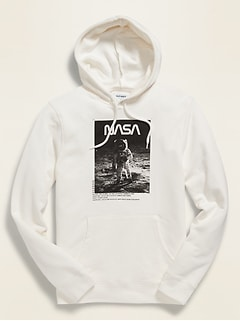 NASA® Lunar Landing Graphic Unisex Pullover Hoodie