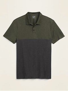 Go-Dry Cool Odor-Control Color-Blocked Core Polo for Men