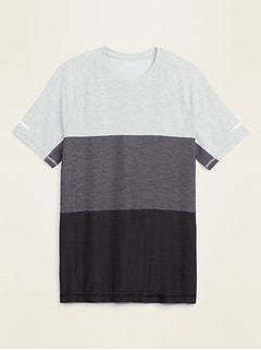 Ultra-Soft Breathe ON Color-Block Tee for Men