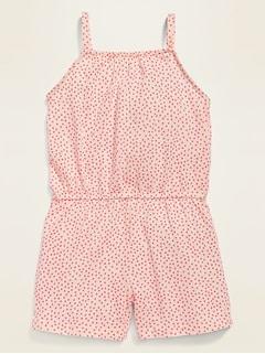 Sleeveless Printed Romper for Toddler Girls