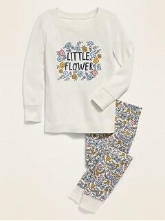 Pyjama à imprimé «Little Flower» pour toute-petite fille et bébé