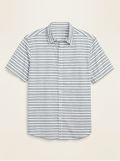 Textured-Dobby Short-Sleeve Shirt for Men