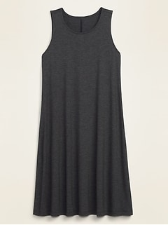Sleeveless Slub-Knit Swing Dress for Women