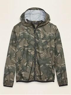 Packable Water-Resistant Windbreaker Jacket for Men