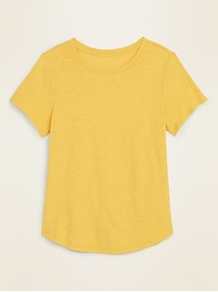 EveryWear Slub-Knit Crew-Neck Tee for Women