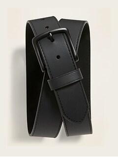 Ceinture en cuir noir pour homme