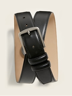 Faux-Leather Belt for Men