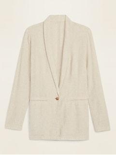 Linen-Blend Blazer for Women