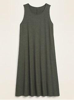 Sleeveless Slub-Knit Swing Dress for Women