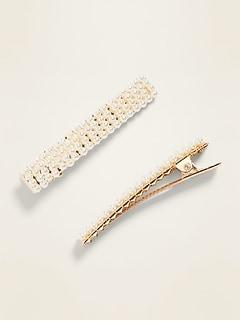 Beaded Hair-Clip 2-Pack for Women