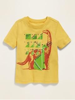 Dino-Graphic Crew-Neck Tee for Toddler Boys