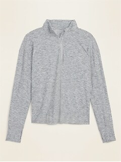 Breathe ON Plus-Size 1/4-Zip Pullover