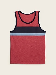 Soft-Washed Chest-Stripe Tank Top for Men
