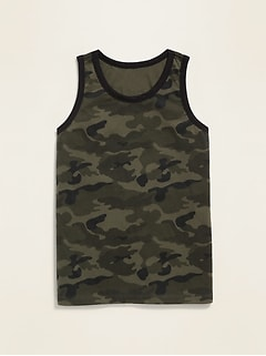 Relaxed Camo Tank for Boys