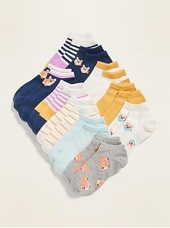 Paquet de six paires de socquettes pour fille