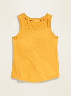 Solid-Color Jersey Tank Top for Toddler Girls
