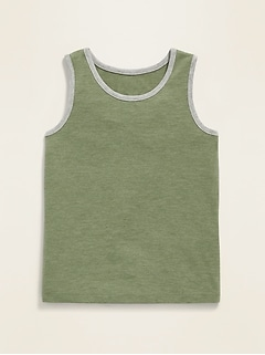 Ringer Tank Top for Toddler Boys