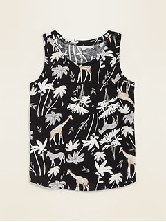 Printed Jersey Tank Top for Toddler Girls