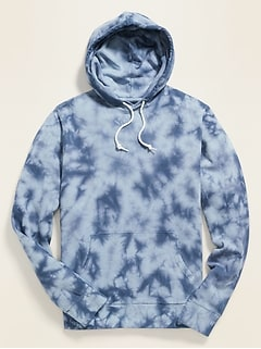Tie-Dyed Pullover Hoodie for Men