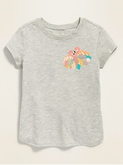 Luxe Graphic Tulip-Hem Tunic for Toddler Girls