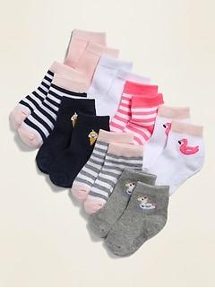 Chaussettes pour toute-petite fille et bébé (paquet de 8)