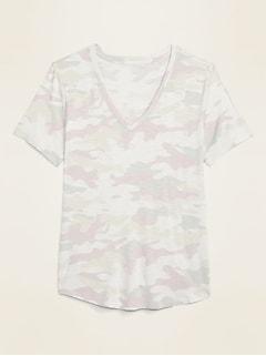 T-shirt camisole en tricot grège luxueux à col enV pour femme