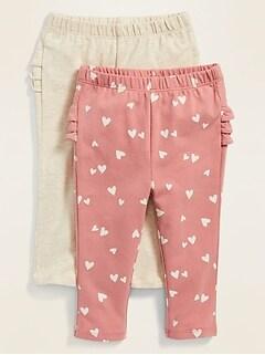 Ruffled Leggings 2-Pack for Baby