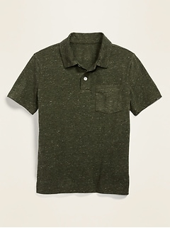 Jersey Chest-Pocket Polo for Boys