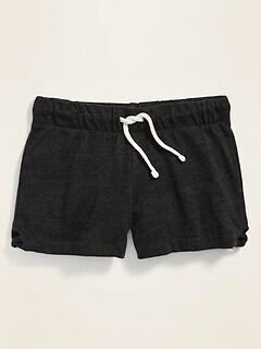 Lattice-Hem Cheer Shorts for Girls