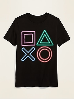 Gender-Neutral Sony PlayStation™ Game Controller Graphic Tee for Kids