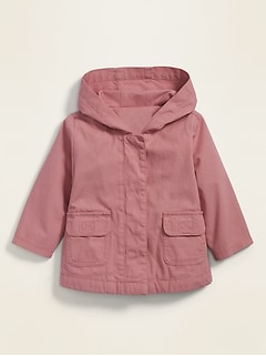 Unisex Hooded Canvas Utility Jacket for Baby